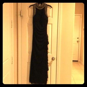Betsy & Adam Black Long Dress